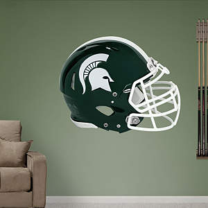 Michigan State Spartans Helmet Fathead Wall Decal